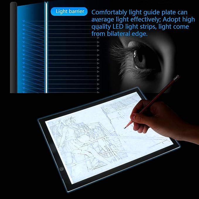 Zerone Light Pad, A3 LED Luz Buzón Tracing Bord de diseño ...