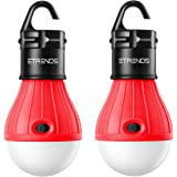 E-TRENDS 2 Pack Portable LED Lantern Tent Light Bulb Camping Hiking Fishing Emergency Light, Battery Powered Camping Equipment Gear Gadgets Lamp Outdoor & Indoor (Red)