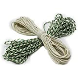 Many Colours Bakers & Butchers/Craft/Christmas String/Twine BUY ONE GET ONE FREE Best Quality (10m Green/White + 10m White/White FREE)