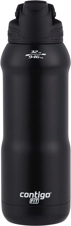 Contigo Fit Autoseal Water Bottle, 32 oz, Licorice