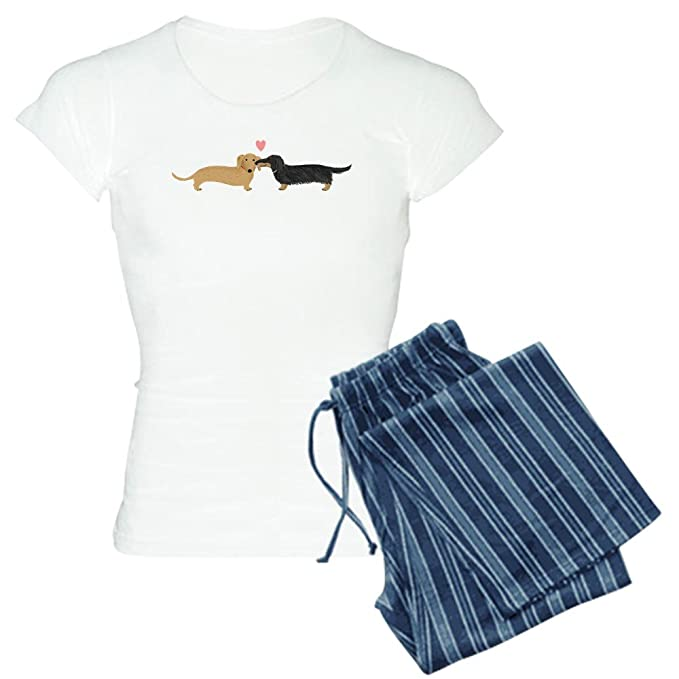 9efe3563769e CafePress Dachshund Smooch Women s PJs  Amazon.co.uk  Clothing