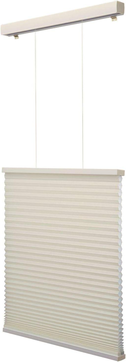 Linen Avenue Custom Cordless Top Down Bottom 72 to 78 H Up Light Filtering Cellular Shade 36 1//2 W Seashell TDBU