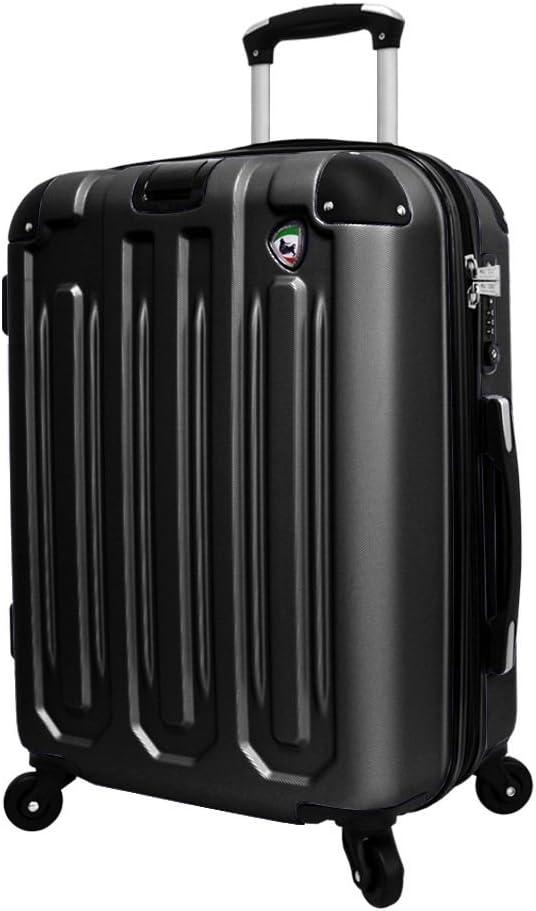 Black One Size Mia Toro Regale Composite Hardside 26 Inch Spinner