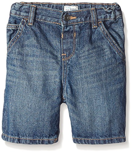 The Children's Place Little Boys and Toddler Denim Utility Short, Dark Jupiter, 4T (Boys Denim Jean Shorts)
