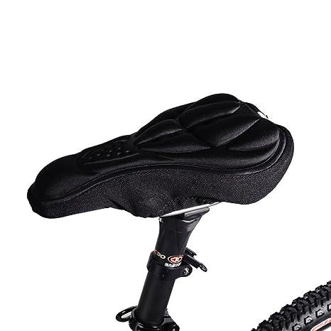 R SODIAL Ciclismo Cubierta Silla de Montar por Bicicleta MTB Cubierta de Asiento de Bicicleta Cubierta Silla de Bici Comoda Almohada 3D Respirable Suave Cojin Negro