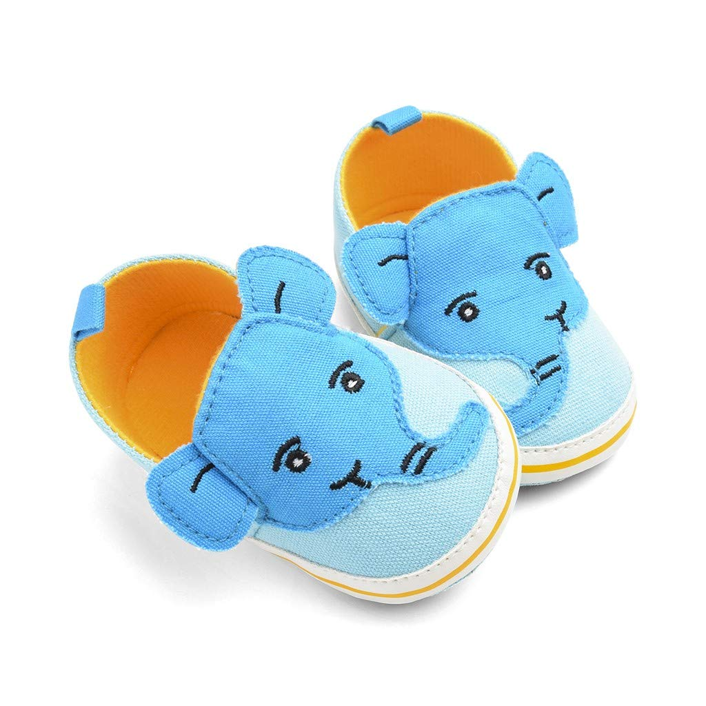 WUAI Infant Baby Shoes First Walking Moccasins Cute Cartoon Elephant Soft Sole Toddler Shoes