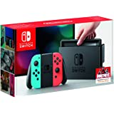 Nintendo Switch Console - Neon Red And Neon Blue