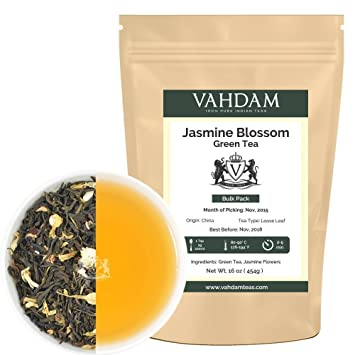 Jasmine Blossom Green Tea Bulk Pack, 16-ounce (Makes 180-230 Cups
