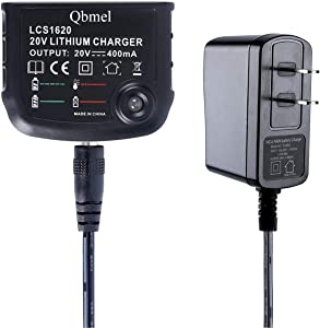 Qbmel 20Volt Li-Ion Battery Charger Replacement for Black+Decker LCS1620 MAX 20V Lithium Ion Battery LBXR20 LBXR20-OPE LB20 LBX20 LBX4020 LB2X4020 LBXR2020-OPE