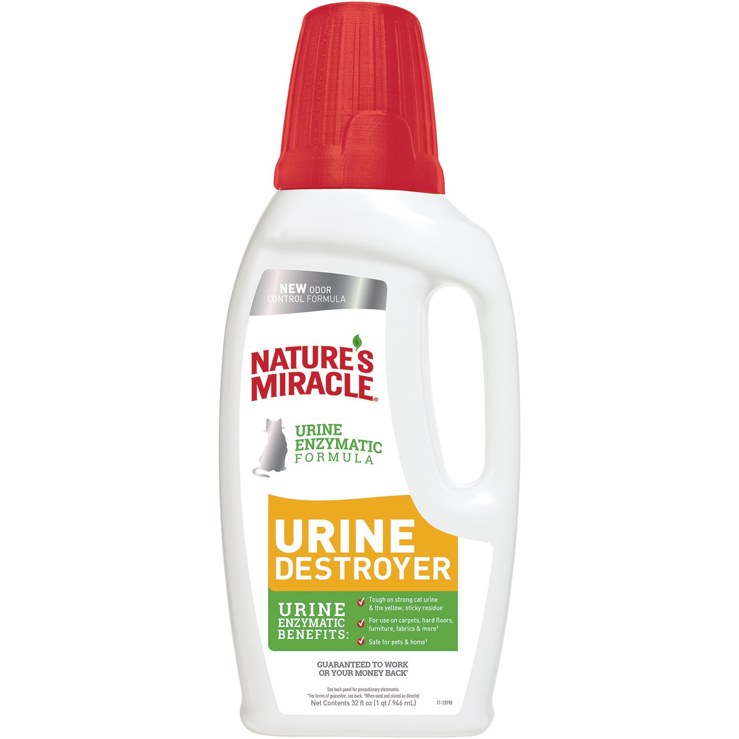 Nature's Miracle Urine Destroyer - Cat Urine Enzyme Cleaner - Pour, 32 fl. oz.