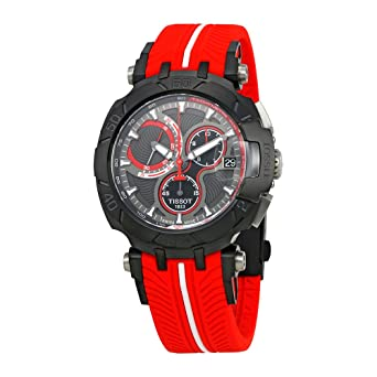 683355e1dea Amazon.com  Tissot T-Race Jorge Lorenzo Anthracite Dial Mens Watch ...