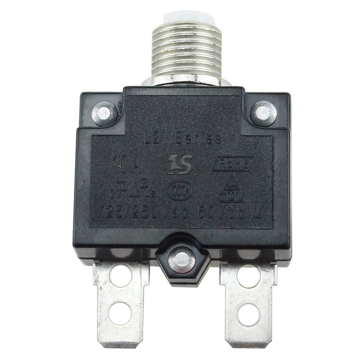 Funnyrunstore Disjoncteur étanche 5A / 10A / 15A / 20A / 30A Montage sur panneau de disjoncteur à fusible thermique réarmable (15A)