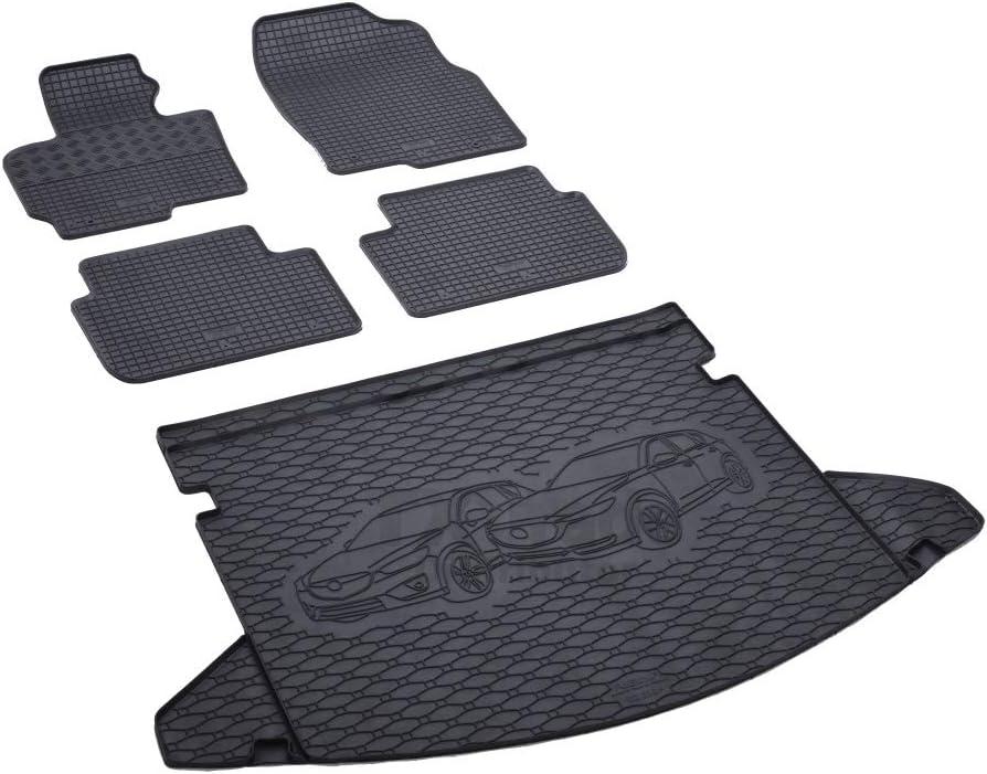 Rigum Passende Gummimatten Und Kofferraumwanne Set Geeignet Für Mazda Cx 5 Ab 2012 Gurtschoner Auto