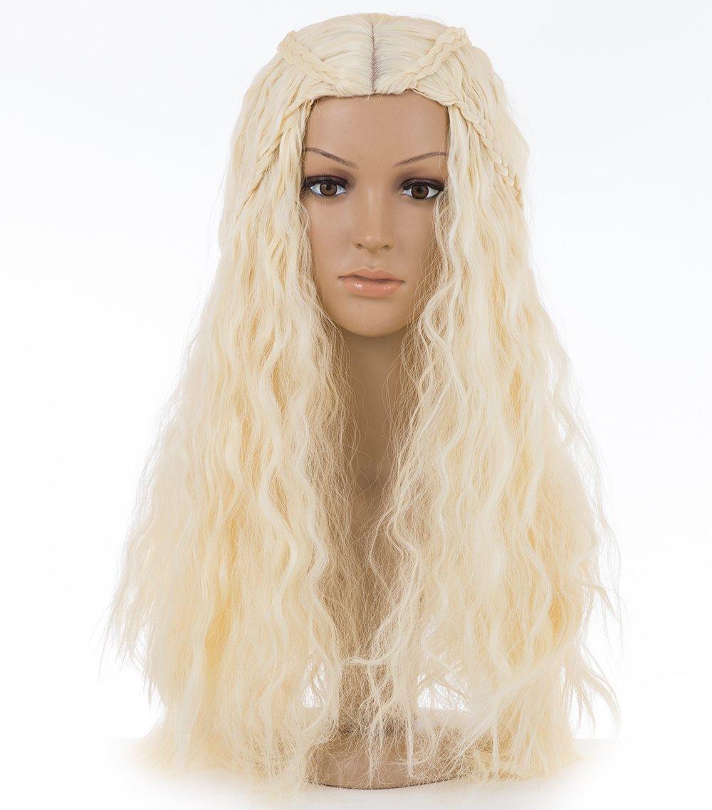 Spretty Peluca sintética de las mujeres cosplay peluca larga pelo rizado mullidas mullidas en color beige