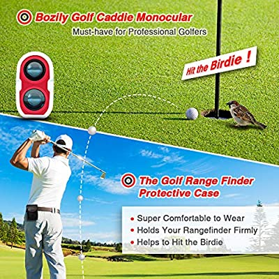 Bozily Golf Rangefinder, 6X Laser Range Finder 900 Yards, Flag-Lock, Slope Tech, 4 Scan Mode, Linear & Vertical Distance, Angle & Speed Measurement, Fog Resistant - Tournament Legal Golf Rangefinder by Bozily