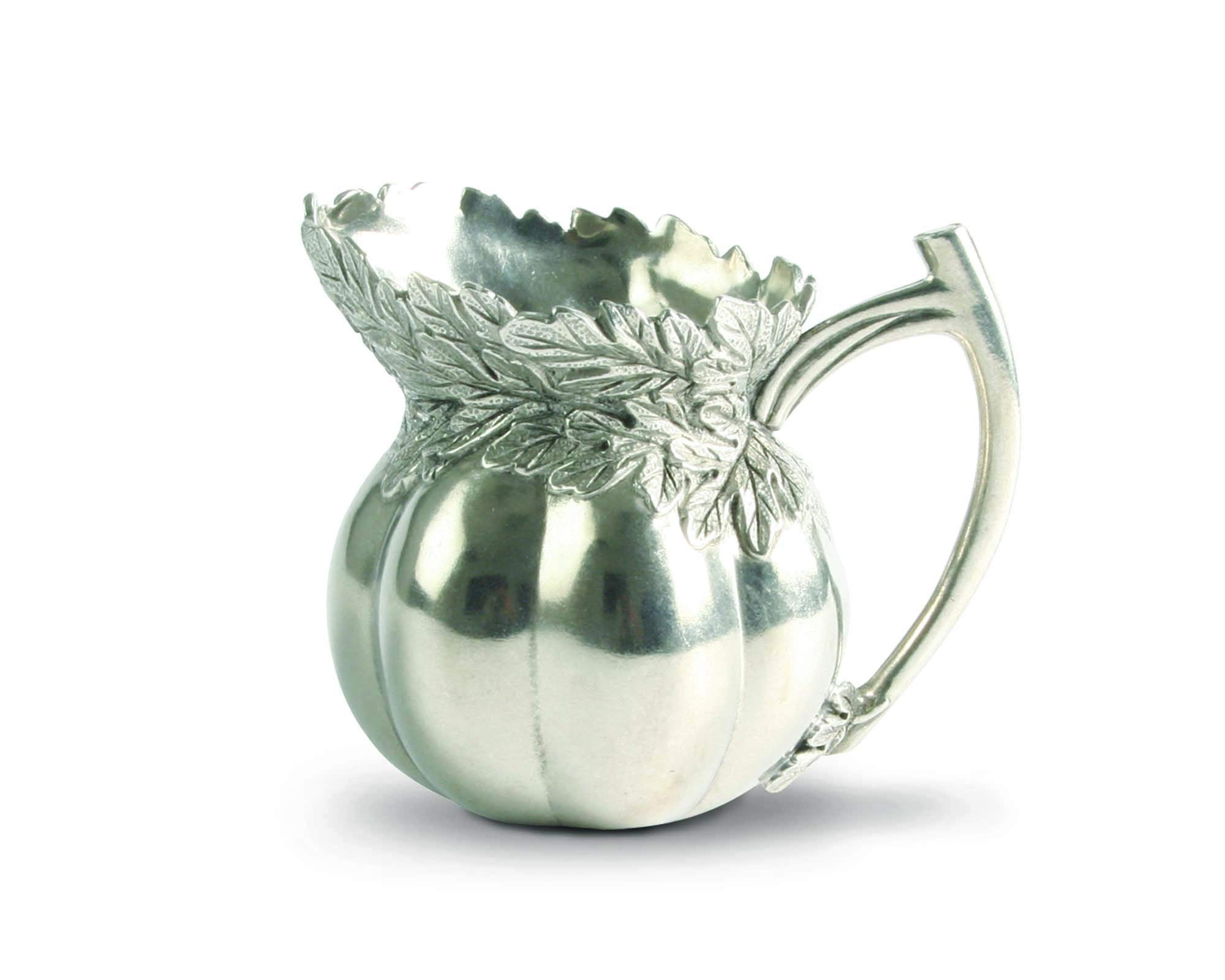 Vagabond House Pewter Heirloom Tomato Small Gravy Sauce Pitcher 4.25'' Tall
