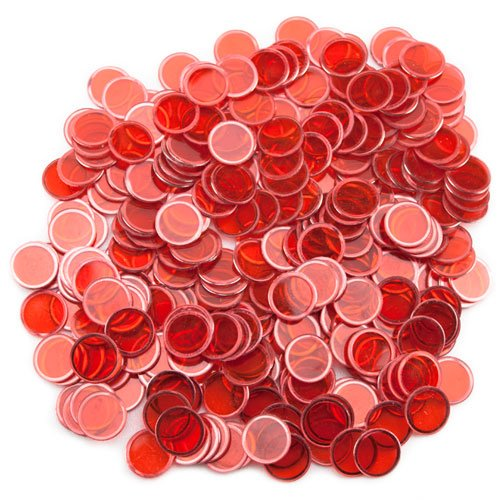 Magnetic Bingo Chips - 300 Pack (Red)
