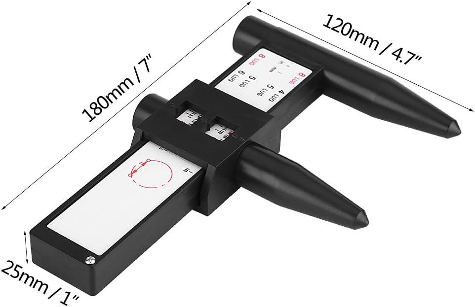 Righello per bulloni per cerchioni Calibro universale PCD 4 5 6 8 fori Capocorda per bulloni Cerchio per bulloni Modello di misurazione scorrevole Strumento per misurare i perni sul veicolo