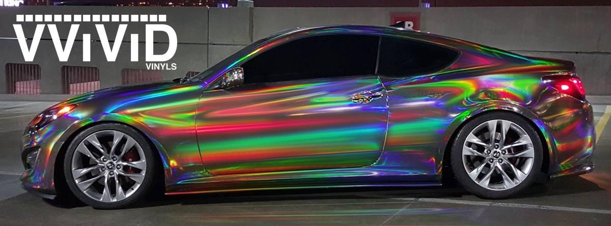 Amazon.com: VViViD Black Holographic Vinyl Wrap Rainbow Finish Roll