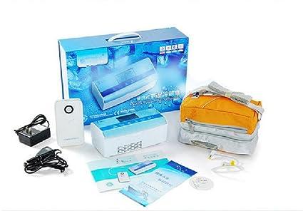 gr-tech Instrumento® 0.45L Batería Externa 10000 mAh portátil enfriador de insulina refrigerado caja medicamentos Reefer 2 – 25 C pantalla LCD 110 V o 220 V: Amazon.es: Industria, empresas y ciencia