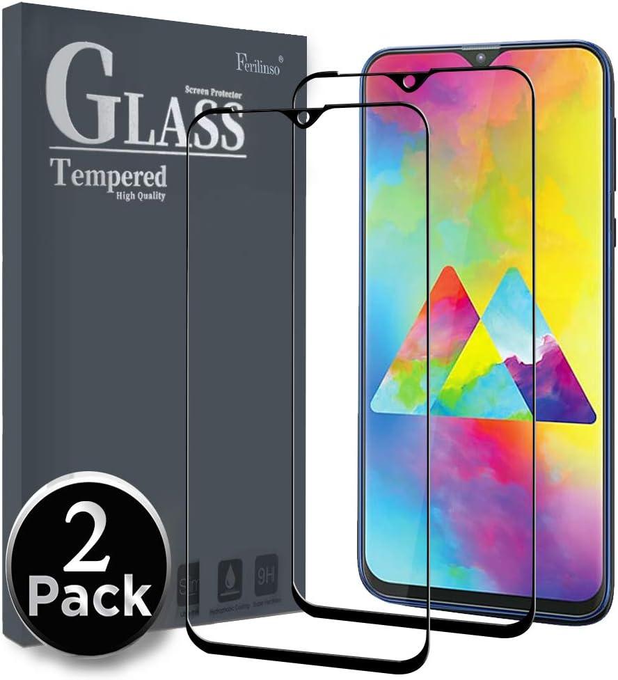 Ferilinso Cristal Templado para Samsung Galaxy M20, [2 Pack ...