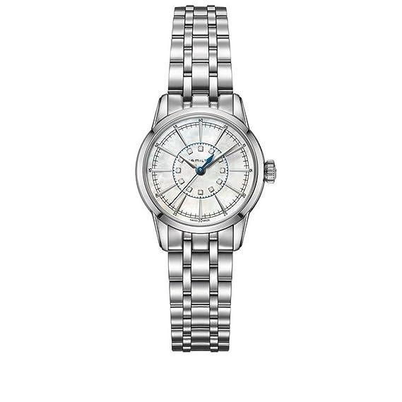 Hamilton Reloj Analogico para Mujer de Cuarzo con Correa en Acero Inoxidable H40311191: Amazon.es: Relojes