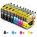 Galada Brother Compatible Ink Cartridges 10-Pack