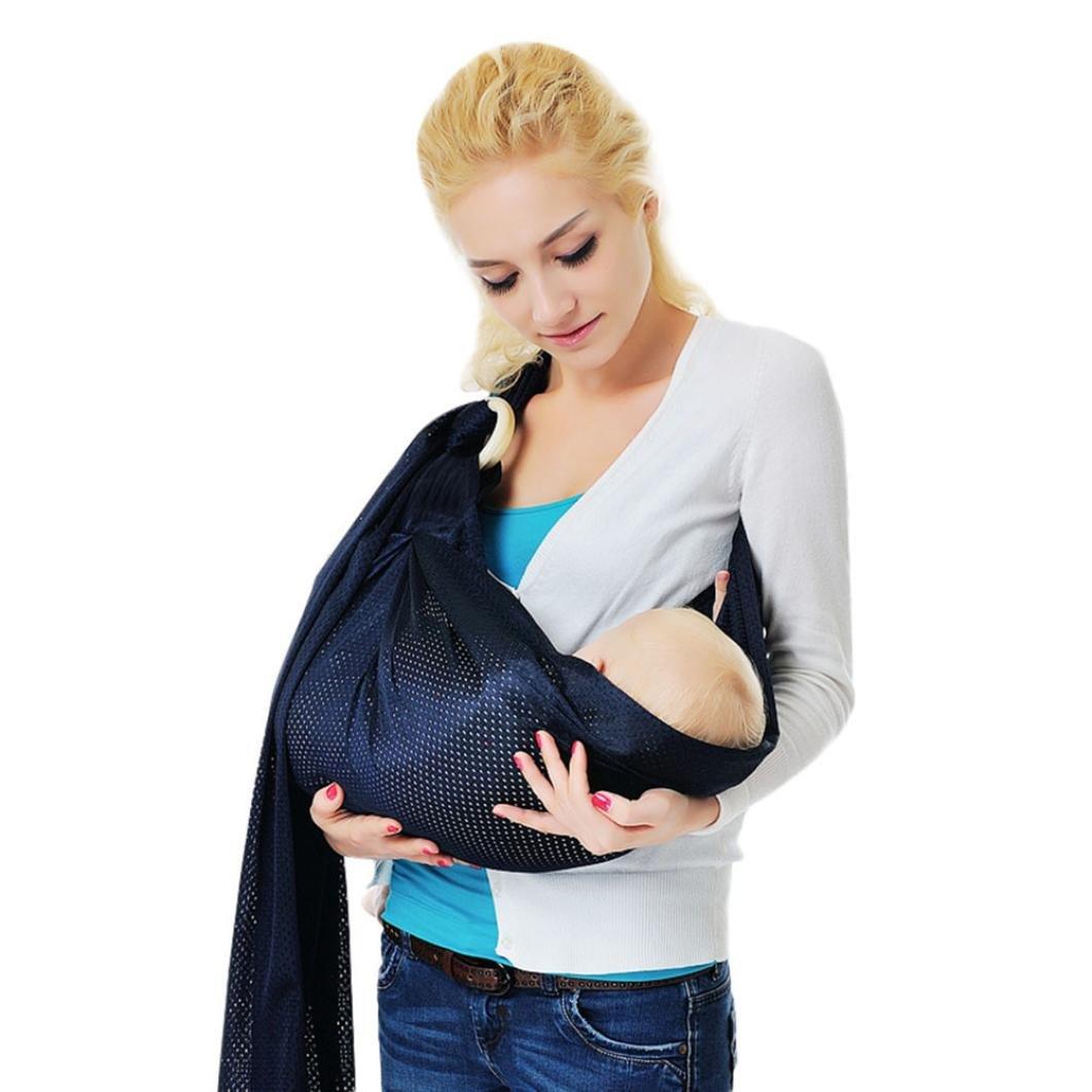 Culater/® Echarpe de Portage pour transporter le B/éb/é Wrap Sling Stretchy Transporteur respirant pour tout-petits Rose