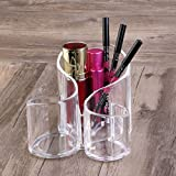New Large Wavy Acrylic Makeup Brush Organiser Cosmetic Stationery Pencil Holder free shipping