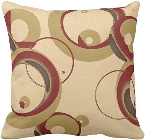 Amazon Com Emvency Throw Pillow Cover Colorful Circle Modern Bubbles Tan Circles Decorative Pillow Case Home Decor Square 18 X 18 Inch Pillowcase Home Kitchen