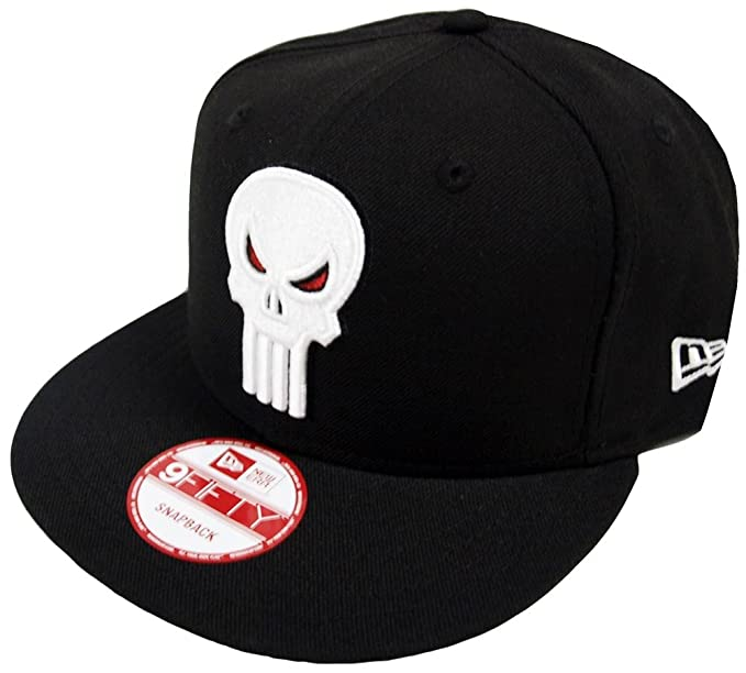 New Era The Punisher Black Marvel Comics Snapback Cap 9fifty Limited ... b28e0510bca