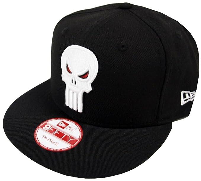 New Era The Punisher Black Marvel Comics Snapback Cap 9fifty Limited ... 603b3f99b95