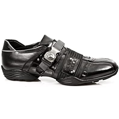 Mens M 2288 S1 Loafers, Black New Rock
