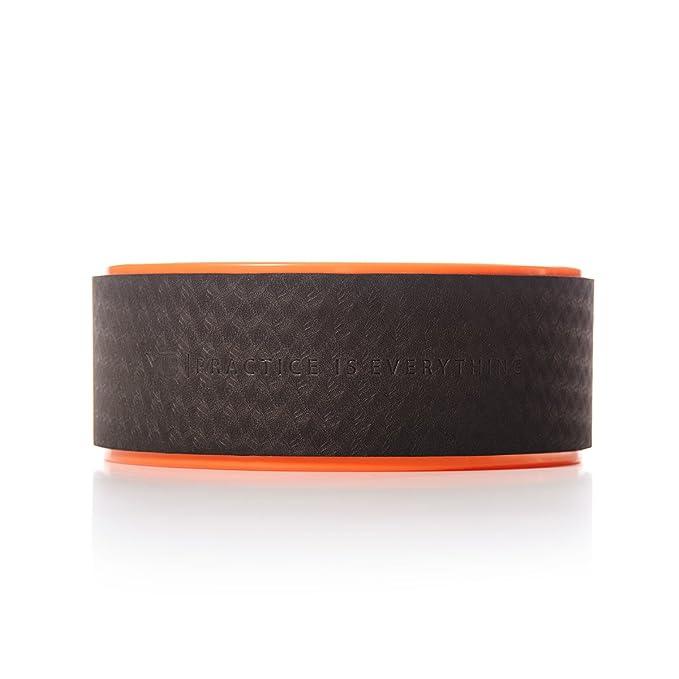 """Rueda de Yoga """"Wonder Wheel"""" por YOGABODY. De color naranja/negro viene con una guía de posturas en PDF y DVD incluidos. 38 Centímetros de Diámetro."""