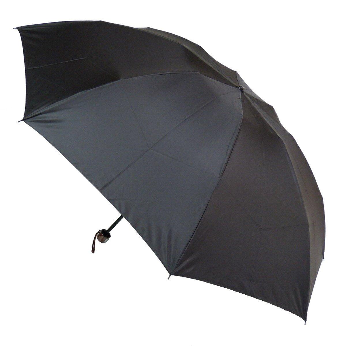 超撥水メンズ三段式折りたたみ雨傘:通勤快滴60ミニ(Advanced Edition) ブラック B00C68IX6W