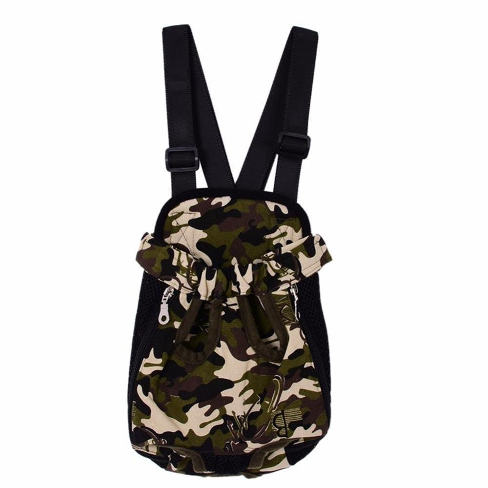 A Kaxima Pet Carrier Backpack Pet out Pack dog shoulder bag leopard rainbow net cloth canvas Camouflage Pet backpack