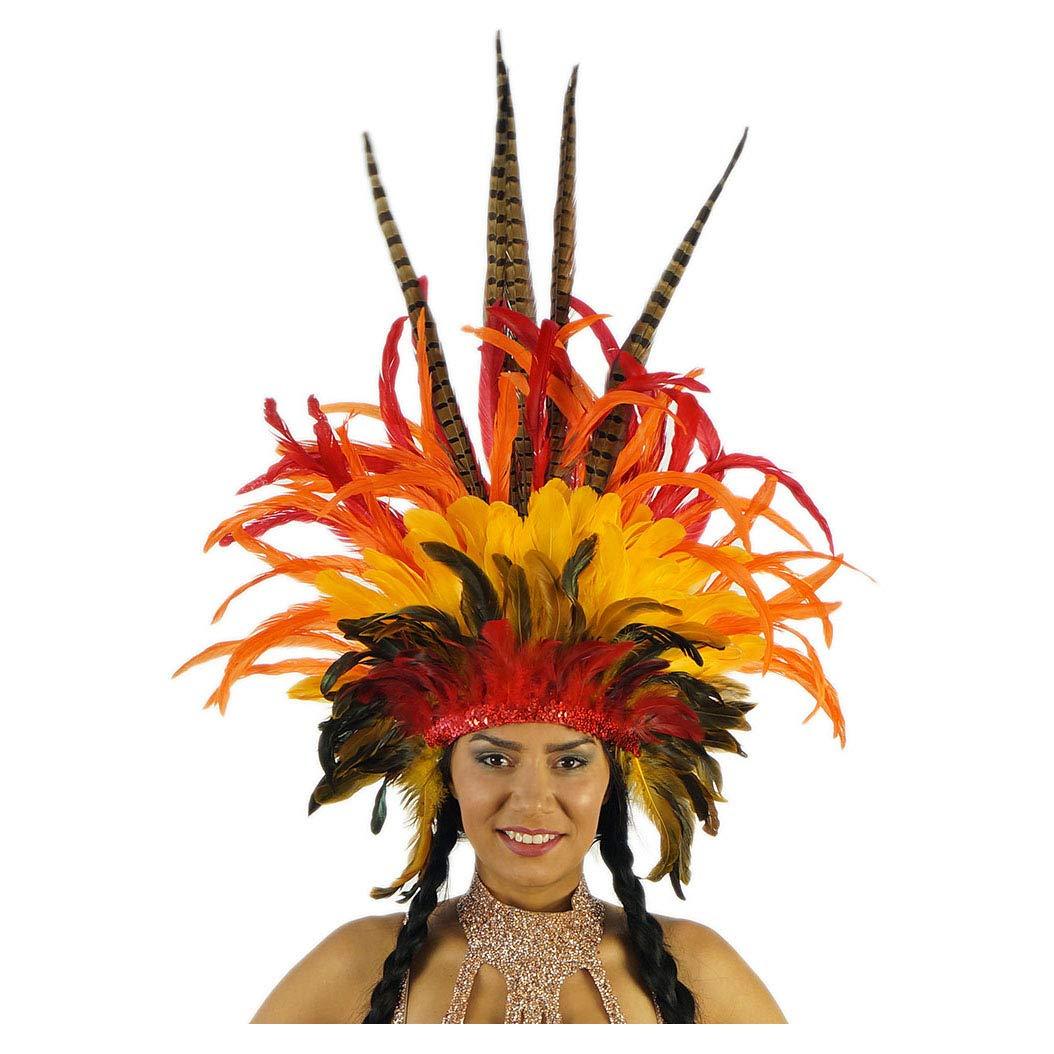 Amazon.com: Empress Sun Carnival Feather Headdress - Disfraz ...