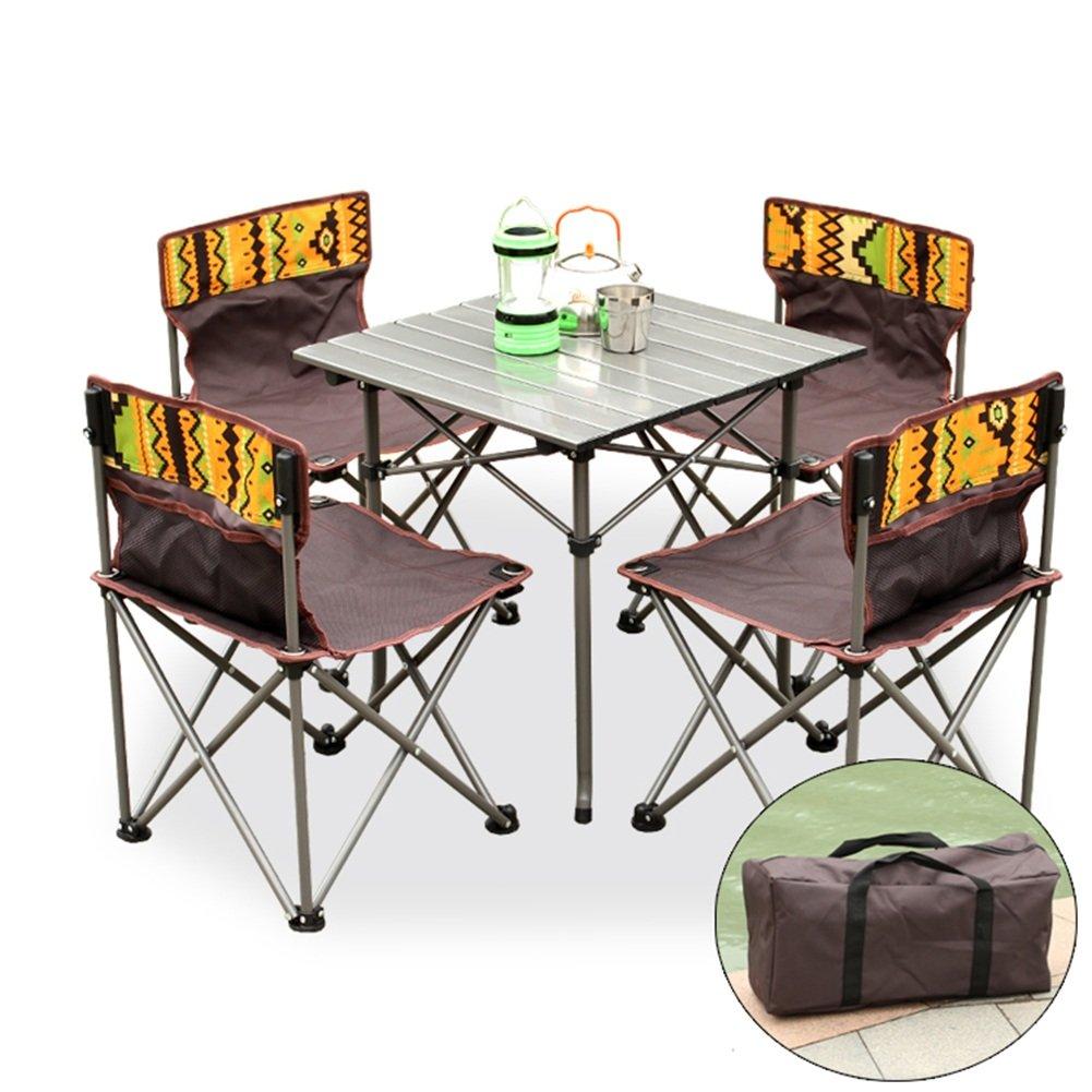 XXHDYR Klapptisch Und Stuhl Im Freien Von 5 5 Wild Fahrenden Tisch Tragbaren Stuhl Klapptisch (Farbe : A, größe :  1)