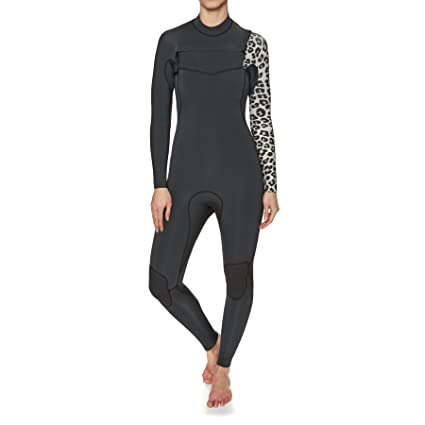 32e9f976b1 Image Unavailable. Image not available for. Color  Billabong Womens Furnace  Carbon Comp 3 2MM Chest Zip Wetsuit Black Sands- Lightweight Easy