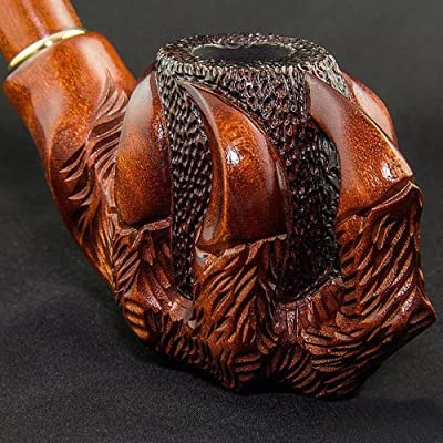 7 87'' 'Paw' Long carved wooden smoking pipe with cooling & for 9mm filter   Best smoking pipes  WORLDWIDE shipping