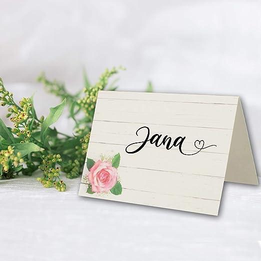 50 St/ück gepunktet f/ür einfaches Falten Coral /& Greenery Geometrisches Blumendesign 5,1 x 8,9 cm Blush Blumen-Tischkarten f/ür Hochzeit oder Party Tischkarten f/ür Tische