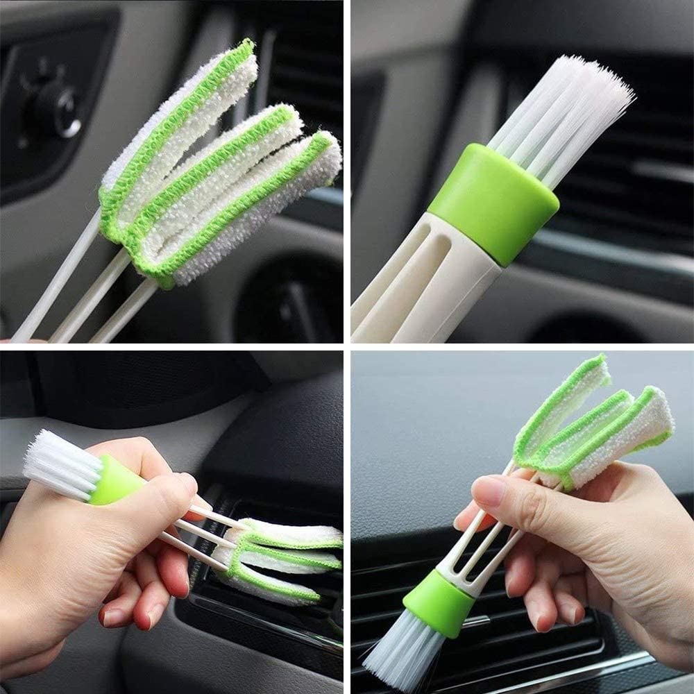 Leather Air Vents,Emblems,Seats,Cleaning Weels,Pack of 13 FANHAY Auto Detailing Brush Set for Cleaning Car Motorcycle Automotive Dashboard,Interior Exterior