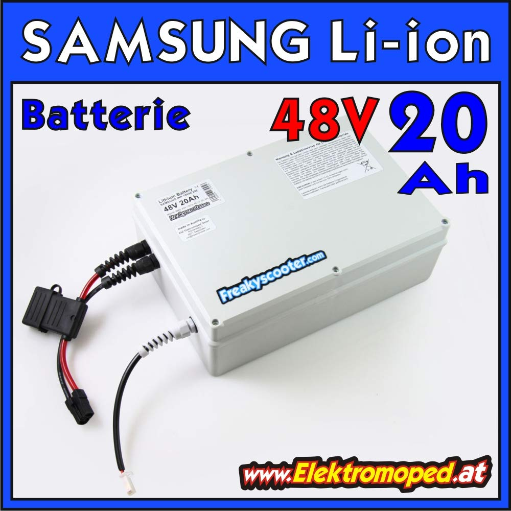 FREAKYSCOOTER Batterie Lithium 48 V 20 Ah Samsung - 960 WH ...