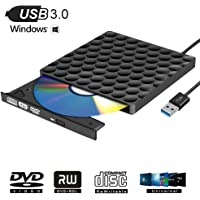 Grabadora DVD Externa USB 3.0 Lector DVD Externo Portátil Unidad Externa Burner para Windows10/7/8, Laptop, Mac, Macbook Air/Pro, Apple, Desktop, PC , Negro
