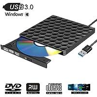 Grabadora DVD Externa USB 3.0 Lector DVD Externo Portátil Unidad Externa Burner para Windows10/7/8, Laptop, Mac, Macbook Air/Pro, Apple, Desktop, PC , Negro