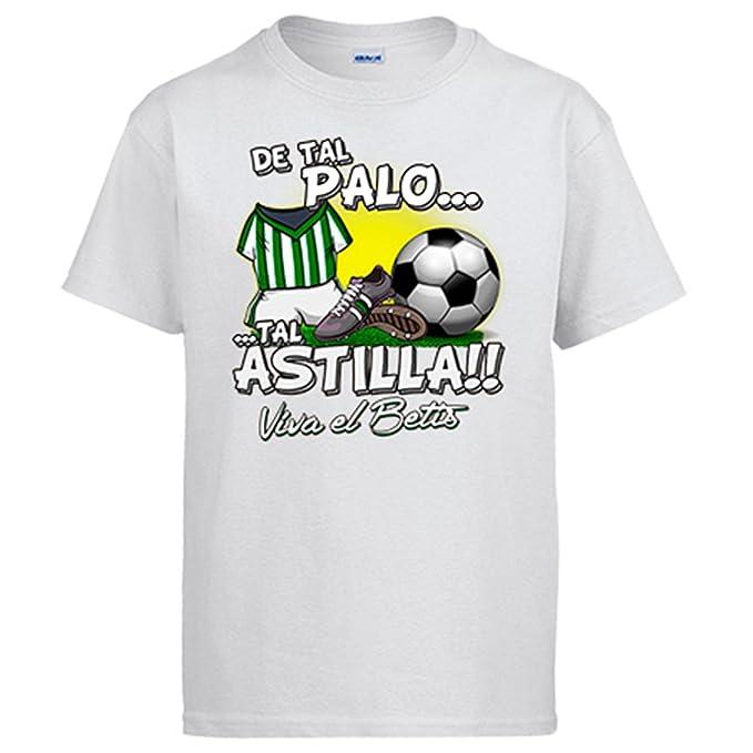 Camiseta De Tal Palo Tal Astilla Betis fútbol - Blanco, S: Amazon.es: Ropa y accesorios