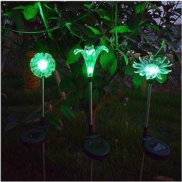 CBA BING Flor del Sol Lirio de Diente de león Luces Solares Jardín LED, jardín, Patio, lámpara de luz Decorativa, Colorida: Amazon.es: Deportes y aire libre