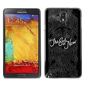 TopCaseStore / la caja del caucho duro de la cubierta de protección de la piel - End Black Quote Dark Goth Emo - Samsung Galaxy Note 3 N9000 N9002 N9005