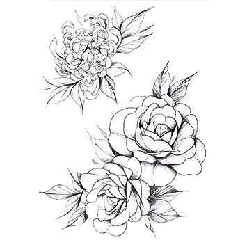 Nuevo tatuaje de brazo de flores pegatinas de medio brazo ...
