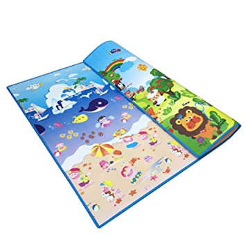 Crawling mat Mena UK Colchoneta De Rastreo para BebéS, ImpresióN A Doble Cara, Impermeable Y EcolóGica, Sin Olor, Estera De Espuma De 1,5 Cm De Grosor ...